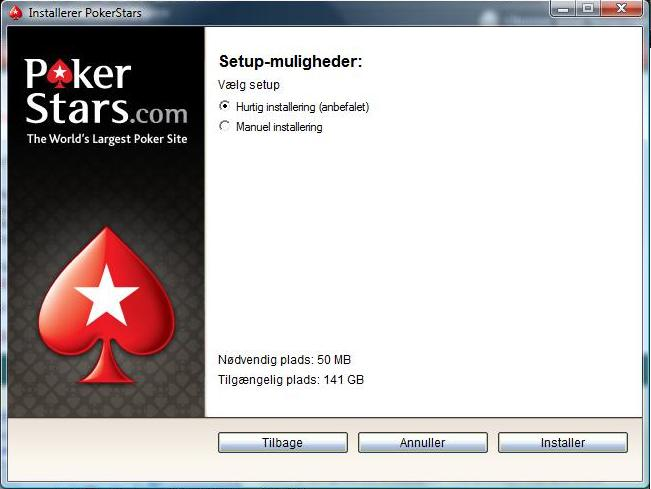 PokerStars Installation Setup