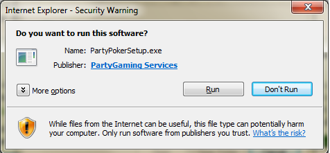 Download af Party Poker Klar